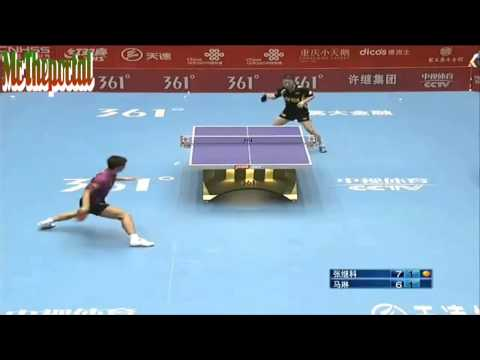 China Table Tennis Super League 2013 - Zhang Jike Vs Ma Lin -