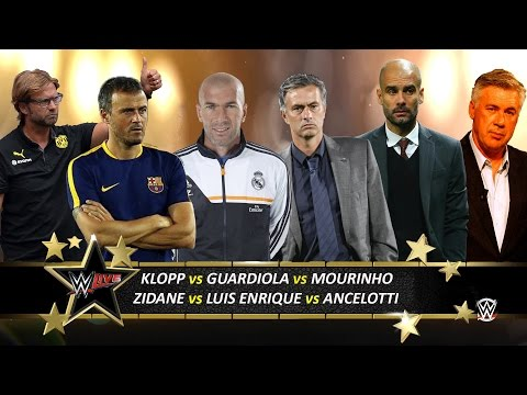 WWE 2k16 | ZIDANE vs LUIS ENRIQUE vs GUARDIOLA vs KLOPP vs ANCELOTTI vs MOURINHO