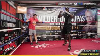 🚨Deontay Wilder Shadow Boxing and Working on Ryu From Street Fighter Spin Technique😎