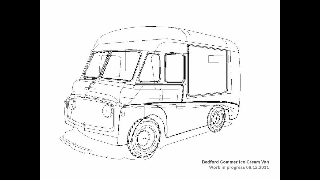 bedford commer icecream van