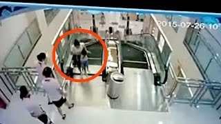 Download Chinese Woman DIES Saving Child On Escalator | What's Trending Now 3Gp Mp4