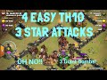 EASY TH10 3 STAR ATTACKS WITH SIEGE MACHINE, post th12 update 2018