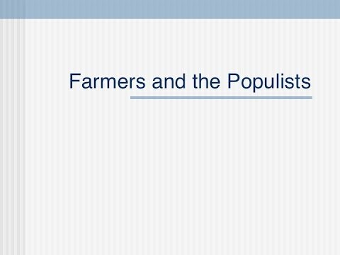 historical roots of populism We need a more global view of the history of populism in order to, first,   bernard: your personal background seems to be of great use in.
