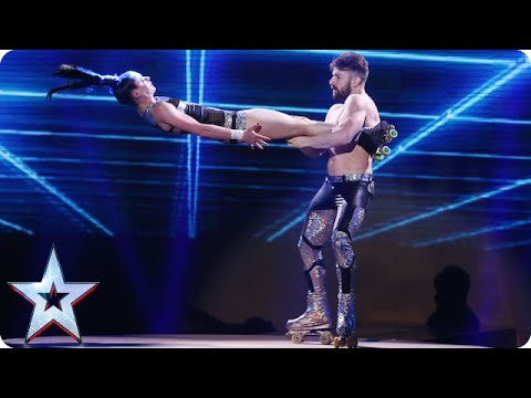 Skating siblings Billy and Emily England are in a spin! | Semi-Final 1 | Britain's Got Talent 2015