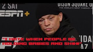 Nate Diaz: No More Baby Pity Stuff  (UFC 244 Post)