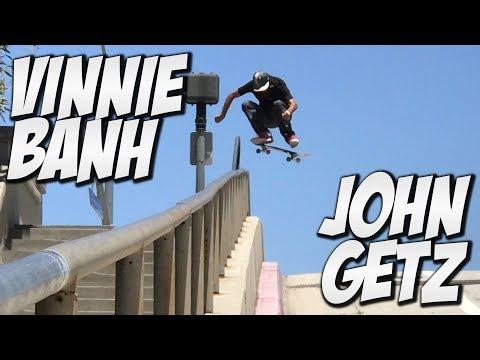 VINNIE BANH AND JOHN GETZ AMAZING SKATE DAY !!! - A DAY WITH NKA