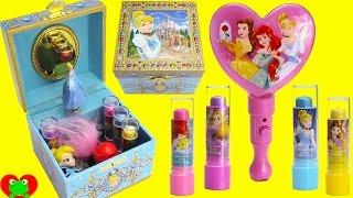 Disney Princess Cinderella Music Box Lip Balms and Surprises