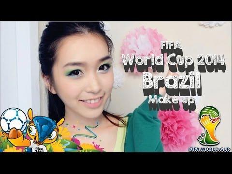 梁吉娜】FIFA World Cup 2014 Brazil Makeup | 2014世界杯巴西 ...