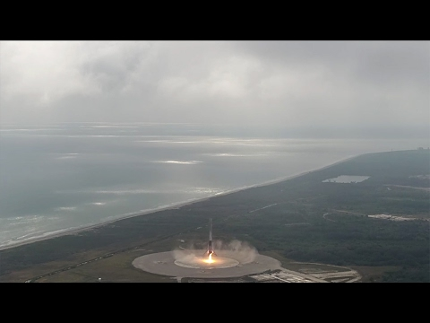 CRS-10 Falcon 9 First Stage Landing (close-up)