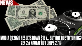 Nvidia Q1 2020 Results DOWN $1bn... But Not Due to Turing? | Zen 2 & Navi at Hot Chips 2019