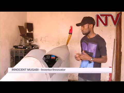 25 year old Innocent Mugabi  hopes to fly his home-built aircraft