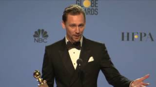 Golden Globes 2017 Tom Hiddleston Backstage Interview