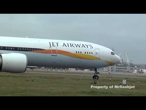 Jet Airways 777-35RER  {VT-JEL}  at London Heathrow Airport