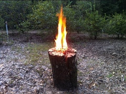 Swedish Fire Torch One Log Fire Neat Trick For Patio