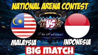 LIVE ARENA KONTES !! JANGAN KASIH KENDOR - INDONESIA VS MALAYSIA | Mobile Legends 17 Maret 2018