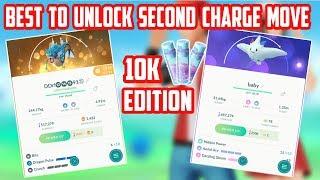 Pokemon Worth Unlocking Second Charge Move: 10,000 Stardust Edition