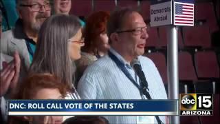 HEARTBREAKING. Brother Larry Sanders cries thru vote for BERNIE SANDERS - Democratic Convention
