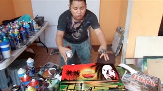 Bob Marley spray art