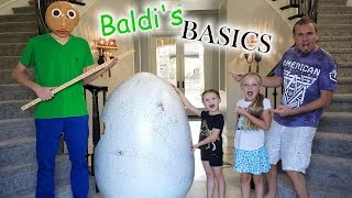Baldi's Basics Egg Toys Scavenger Hunt! This Time His Screen Goes RED!!!