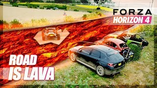 Forza Horizon 4 - The Road is Lava Challenge!
