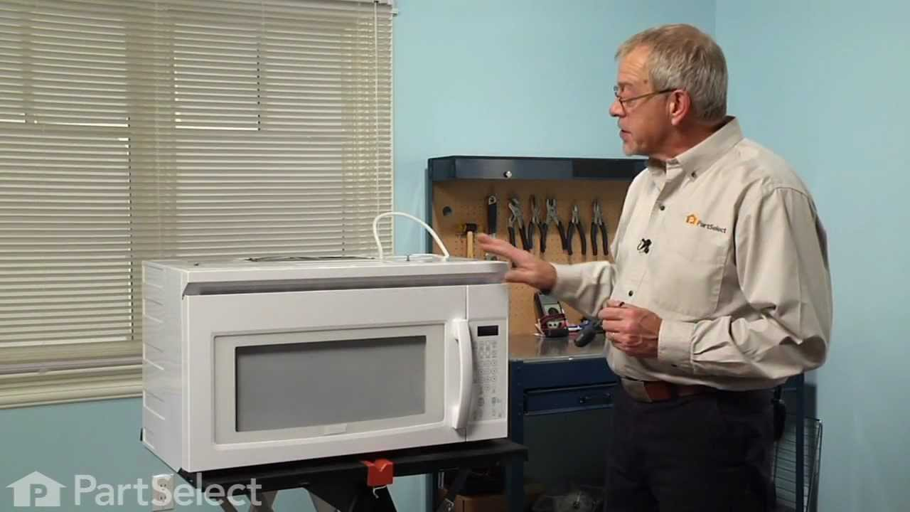 Microwave Repair Replacing The Internal Light Bulb 40w