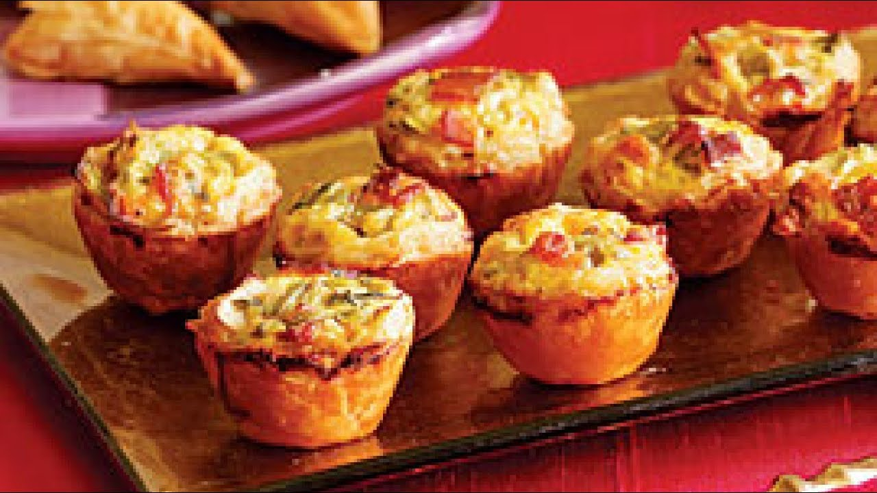 delicious finger food for parties mini quiche filled with. Black Bedroom Furniture Sets. Home Design Ideas