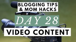 Use Video Content & YouTube Marketing for Your Blogging Business?!  ● Blogging Tips & Mom Hacks Seri