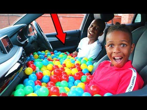 CAR BALL PIT PRANK ON MY MOM!! *5000 BALLS*