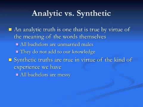 Kant 1: Synthetic A Priori Knowledge