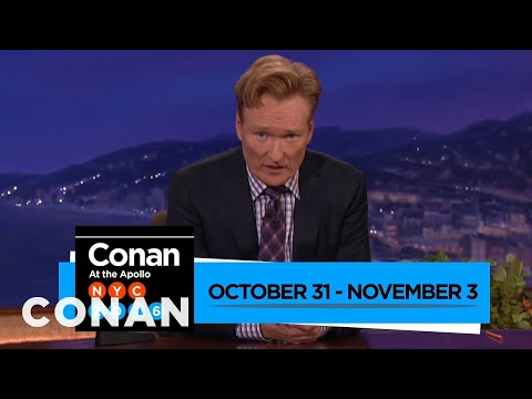 Watch #ConanNYC 10/31-11/3  - CONAN on TBS