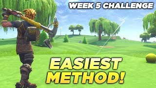 """""""Hit a Golf Ball from tee to green on Different Holes"""" EASIEST GUIDE! ALL LOCATIONS WEEK 5 FORTNITE!"""