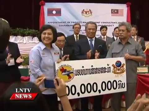 Lao NEWS on LNTV: Laos, Malaysian foundation enhance cooperation on volunteer students.16/9/2014