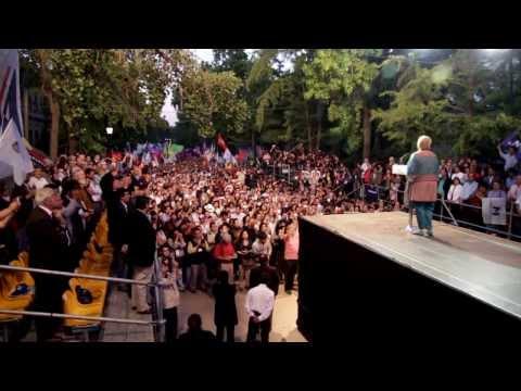Acto de cierre de campaña de Michelle Bachelet en la Quinta Normal
