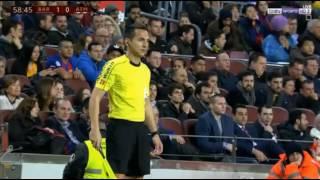 هدف  ل اتلتيكو مدريد ضد برشلونة  لم يحتسب بسبب خطاء تحكيم