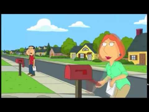 getting mail - quagmire & lois