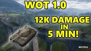 World of Tanks - Super Conqueror - 12K DAMAGE in 5 MINUTES! - WOT 1.0