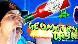 Geometry Dash [Steam] ~ Hot Sauce Challenge! (Stereo Madness, Back on Track, Polargeist)
