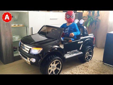 Адам Человек Паук Открывает Подарок Новую Машину Ford Ranger New Car Surprise for Spider-Man Adam