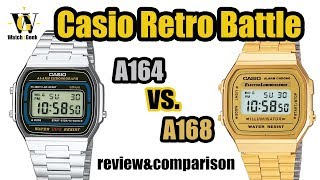 Casio A164 and A168 - review and comparison (and how to tell a fake)