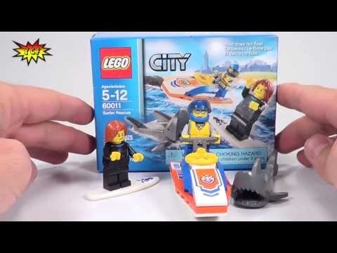 LEGO Surfer Rescue CITY Coast Guard Review - LEGO 60011