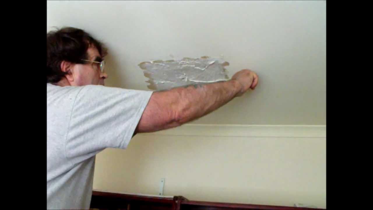 How To Repair A Hole In A Plasterboard Ceiling Where A