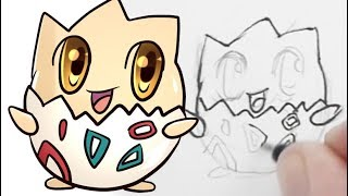 How to draw Cute Togepi (Pokemon)