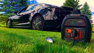 Generator Charging a Tesla? Generac VS Honda