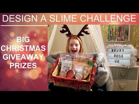 DESIGN A CHRISTMAS SLIME CHALLENGE | BIG GIVEAWAY + PRIZES  | RUBY ROSE UK