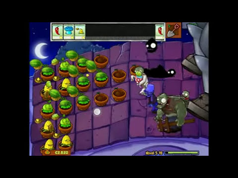 Plantas vs Zombies (capitulo final + música de créditos)