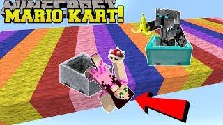 Minecraft: MARIO KART RACE!!! (POWER UPS, NEW RACES, & MORE!) Mini-Game