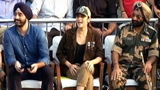Jai Jawan: Alia enjoys Beating Retreat ceremony at Wagah border
