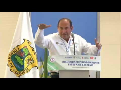 Inaugura Rubén Moreira la planta BorgWarner Emissions System en Ramos Arizpe