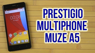 Распаковка Prestigio MultiPhone Muze A5 5502 Duo Black
