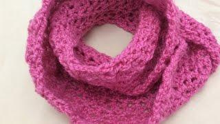Móc khăn len,khăn ống How to crochet a scarf cowl